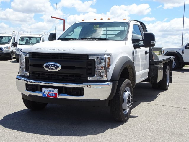 2018 F-550 Regular Cab DRW 4x2,  CM Truck Beds Flatbed #TEC70659 - photo 7