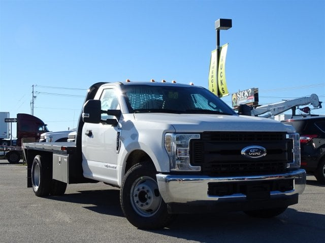 2019 F-350 Regular Cab DRW 4x2,  Knapheide PGNB Gooseneck Flatbed #TED03409 - photo 1