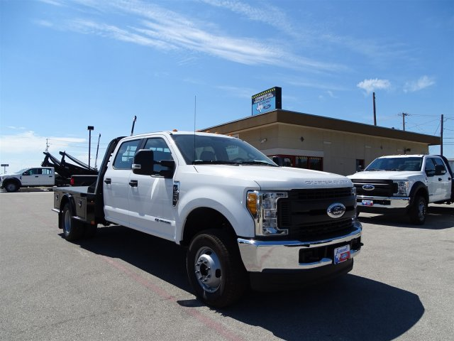 2017 F-350 Crew Cab DRW 4x4, CM Truck Beds SK Model Flatbed #TEE35955 - photo 3