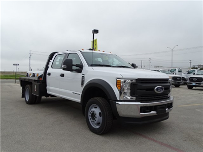 2017 F-550 Crew Cab DRW 4x4, CM Truck Beds RD Model Flatbed #TEE51341 - photo 3