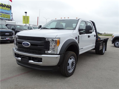 2017 F-550 Crew Cab DRW 4x4, CM Truck Beds RD Model Flatbed #TEE51341 - photo 8