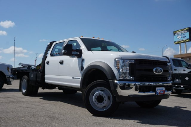 2019 Ford F-550 Crew Cab DRW RWD, CM Truck Beds RD Model Flatbed #TEF61783 - photo 1