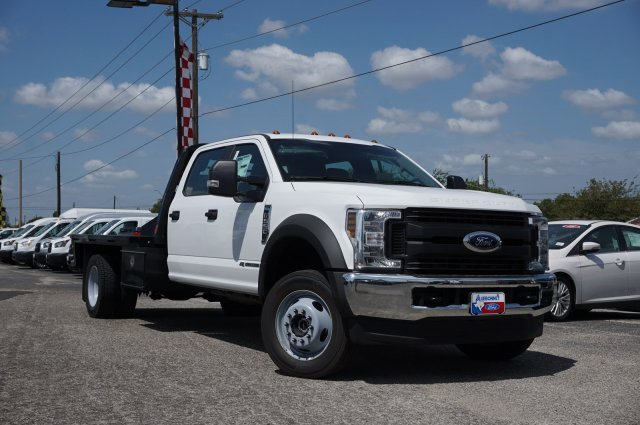 2019 Ford F-550 Crew Cab DRW 4x4, CM Truck Beds RD Model Flatbed #TEF66495 - photo 1