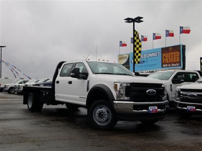 2019 Ford F-550 Crew Cab DRW 4x4, General Truck Body Gooseneck Flatbed #TEG58305 - photo 3