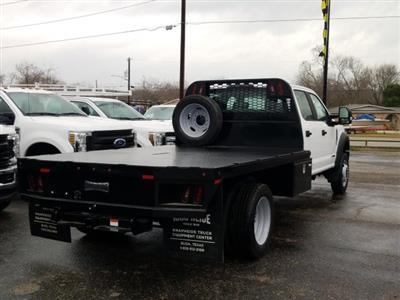 2019 Ford F-550 Crew Cab DRW 4x4, General Truck Body Gooseneck Flatbed #TEG58305 - photo 2