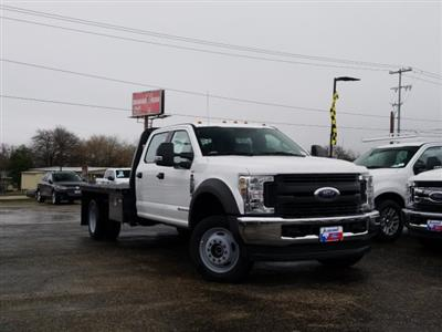 2019 Ford F-550 Crew Cab DRW 4x4, Flatbed #TEG88303 - photo 1