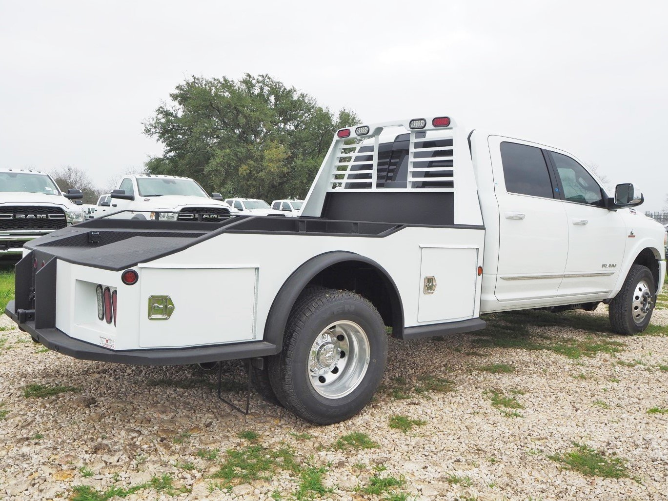 2020 Ram 3500 Crew Cab DRW 4x4, Herrin Welding Service, Inc. Hauler Body #TG106198 - photo 1