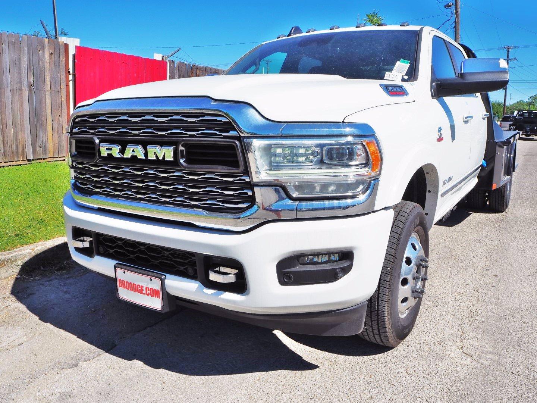 2020 Ram 3500 Crew Cab DRW 4x4, CM Truck Beds SK Model Flatbed #TG110405 - photo 3