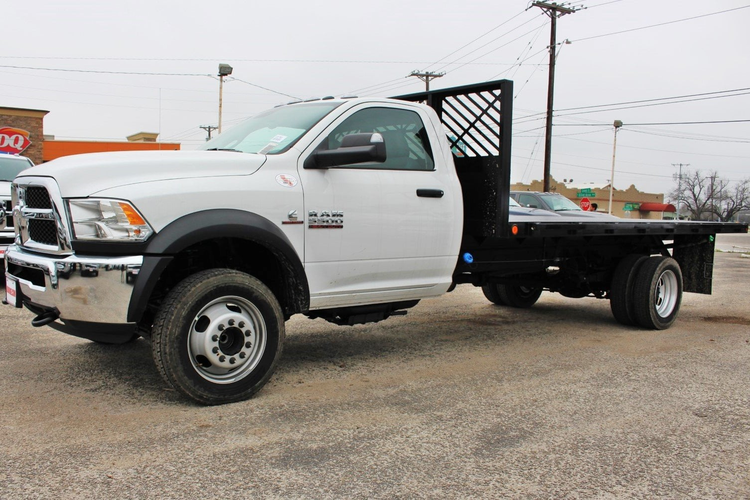 2018 Ram 5500 Regular Cab DRW 4x2,  Cadet Flatbed #TG317981 - photo 4