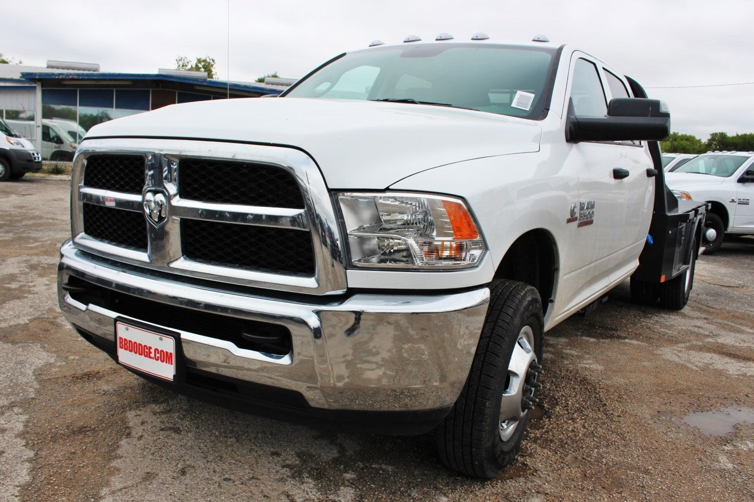 2018 Ram 3500 Crew Cab DRW 4x4,  CM Truck Beds Flatbed #TG325335 - photo 3