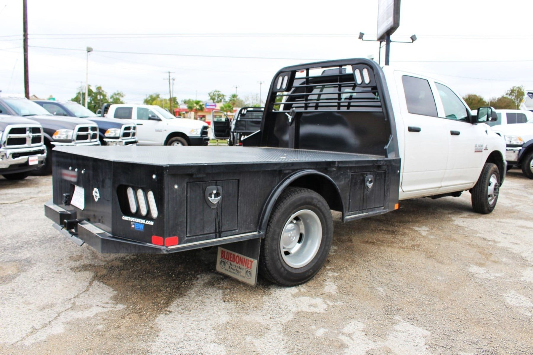 2018 Ram 3500 Crew Cab DRW 4x4,  CM Truck Beds Flatbed #TG325335 - photo 2