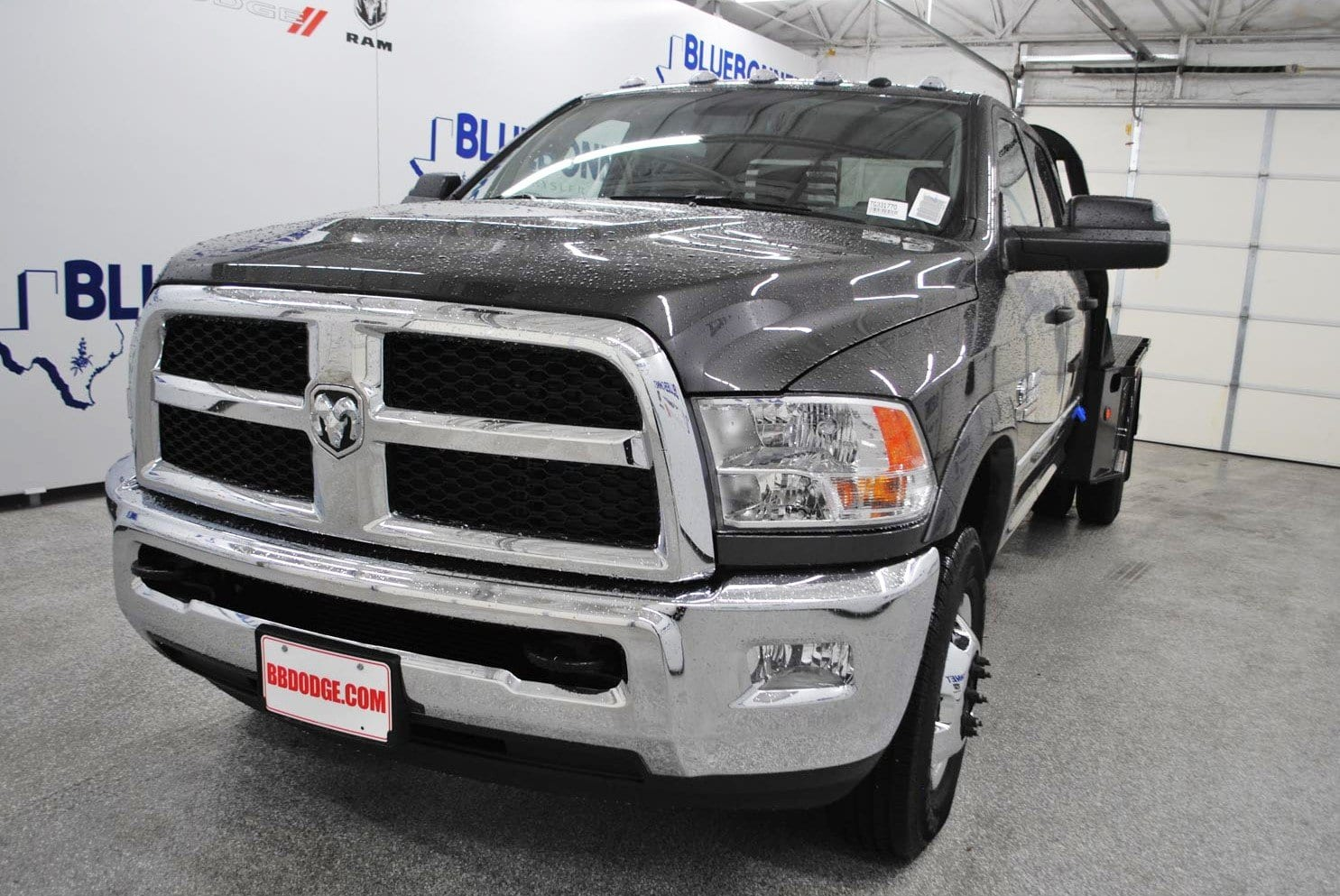 2018 Ram 3500 Crew Cab DRW 4x4,  Bedrock Flatbed #TG331770 - photo 3