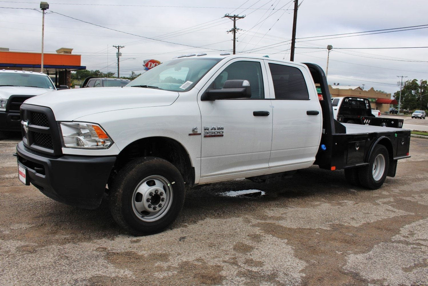 2018 Ram 3500 Crew Cab DRW 4x4,  CM Truck Beds Flatbed #TG335946 - photo 4
