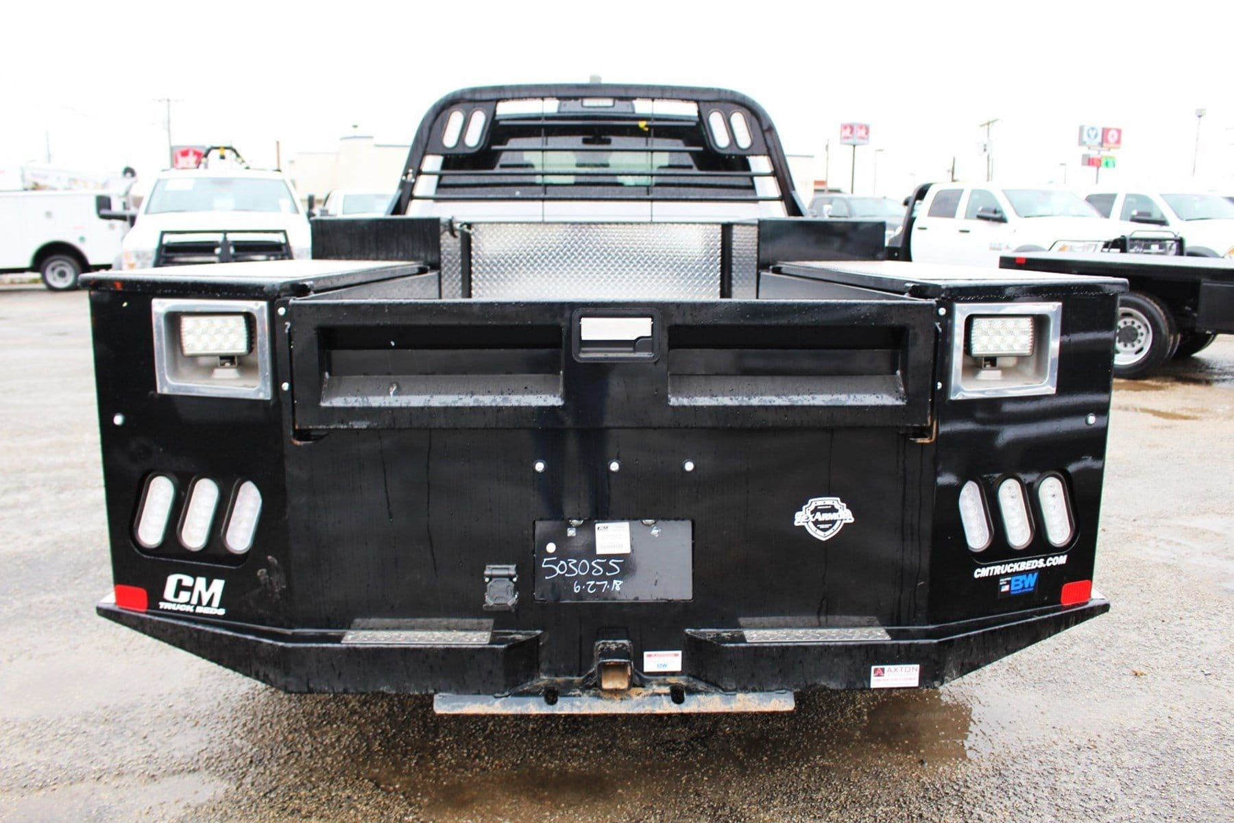 2018 Ram 3500 Crew Cab DRW 4x4,  CM Truck Beds Flatbed #TG362777 - photo 6