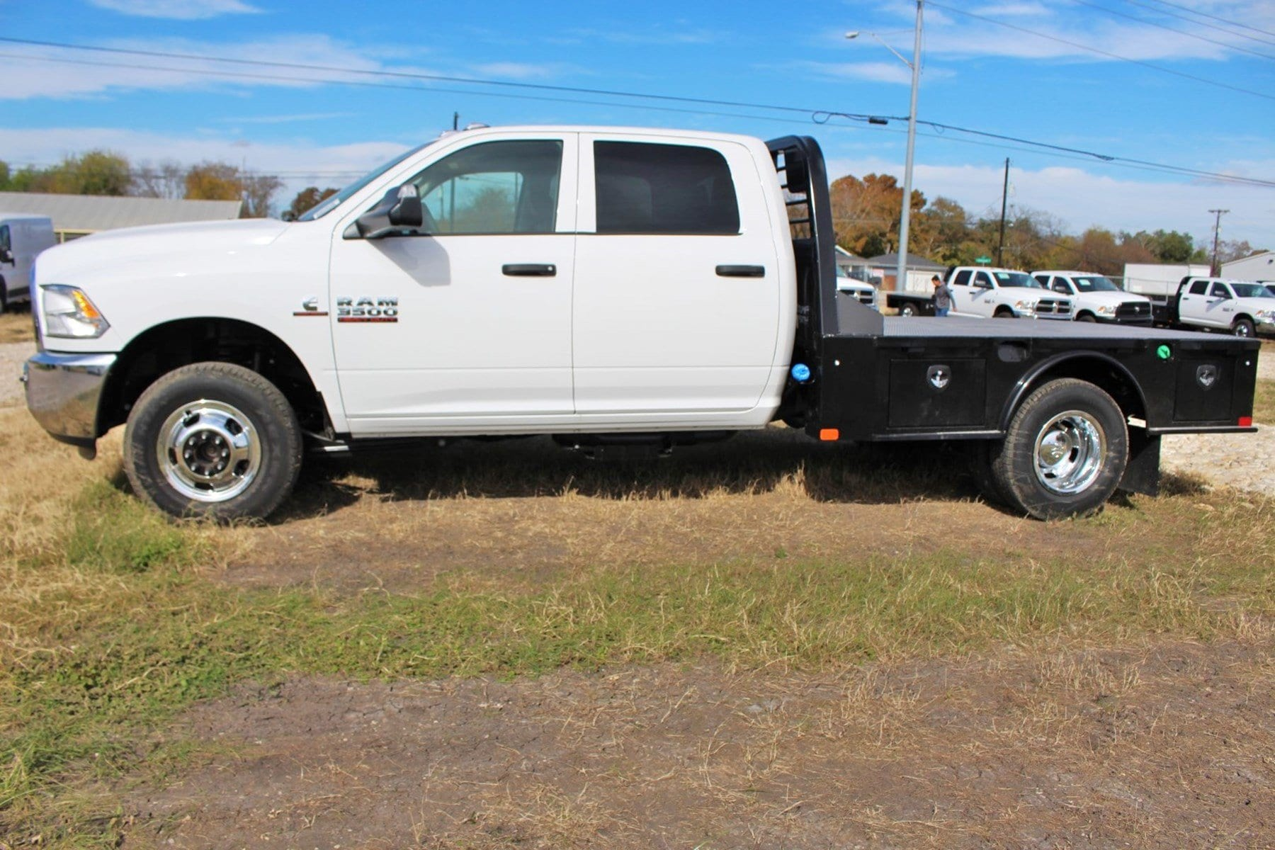 2018 Ram 3500 Crew Cab DRW 4x4,  CM Truck Beds Flatbed #TG362795 - photo 4
