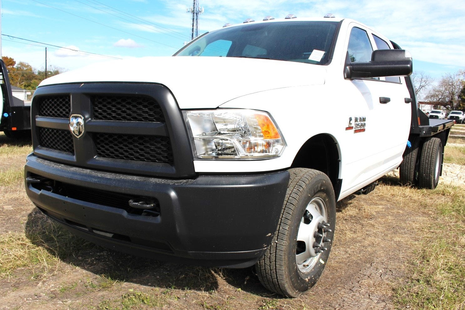 2018 Ram 3500 Crew Cab DRW 4x4,  CM Truck Beds Flatbed #TG362797 - photo 3