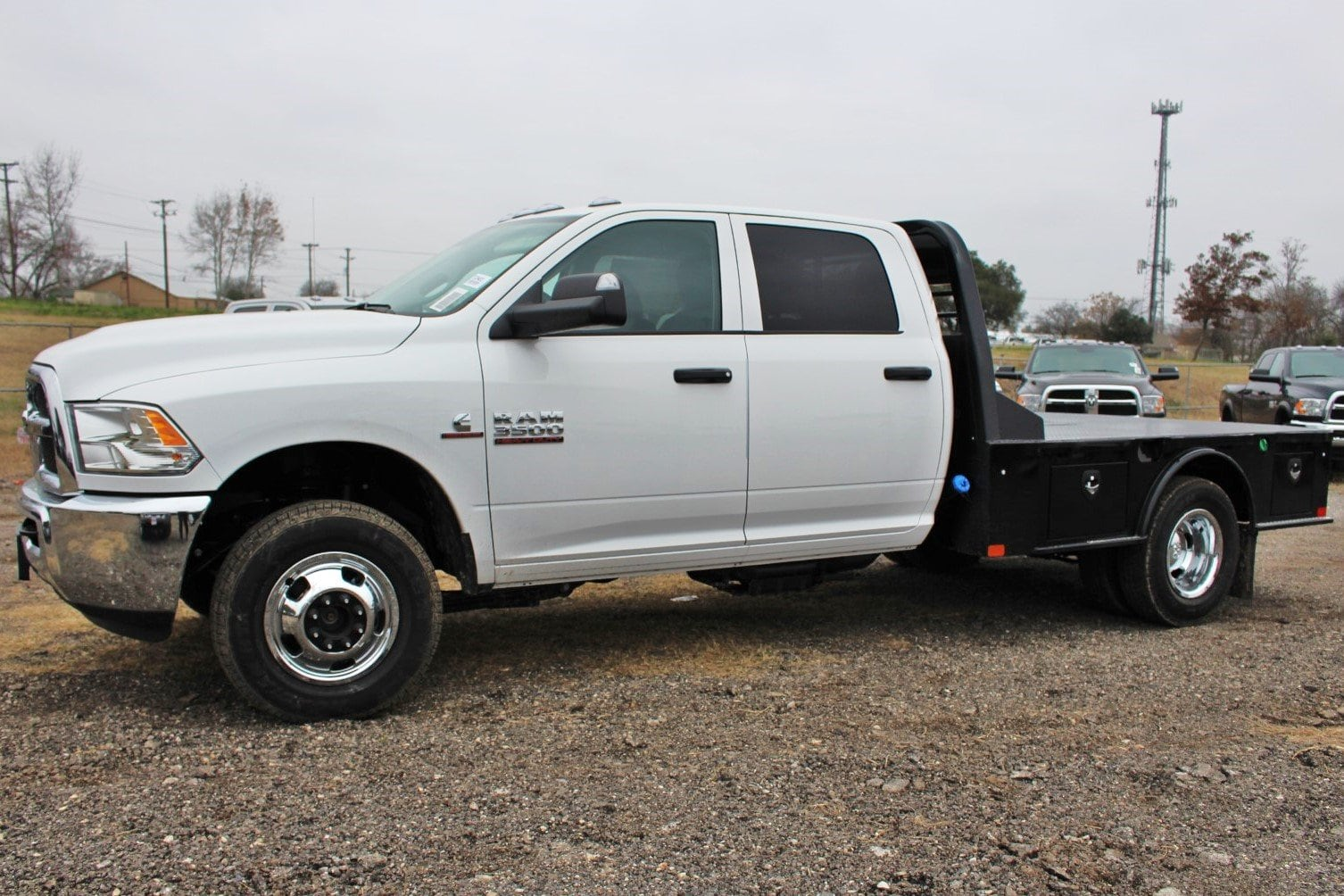 2018 Ram 3500 Crew Cab DRW 4x4,  CM Truck Beds Flatbed #TG394818 - photo 4