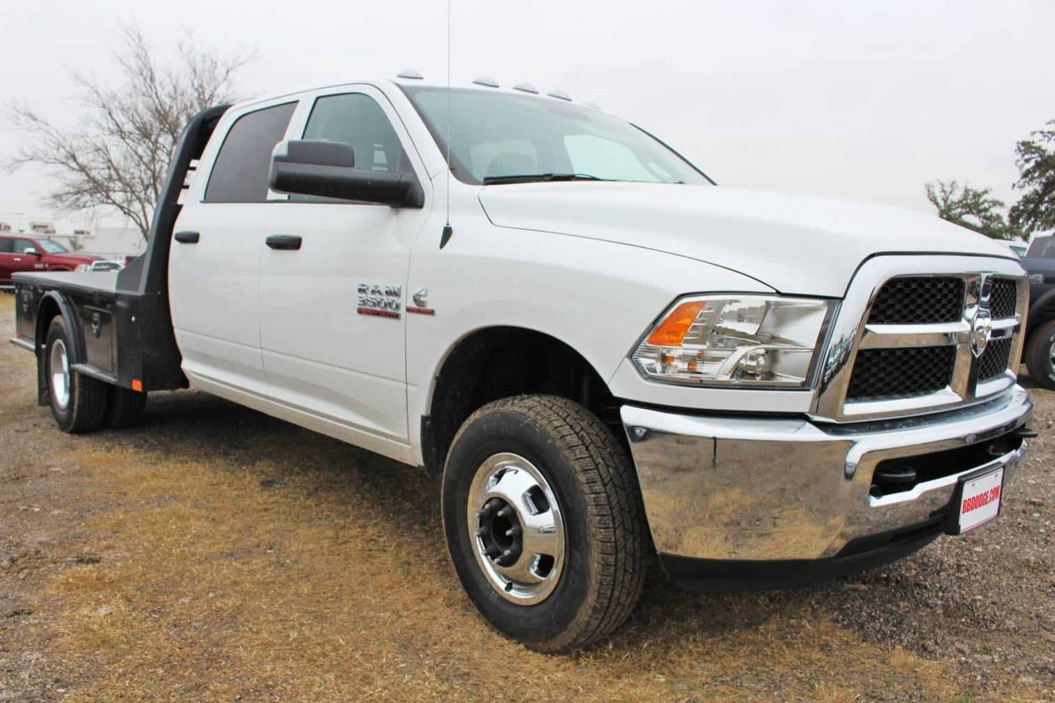 2018 Ram 3500 Crew Cab DRW 4x4,  CM Truck Beds SK Model Flatbed #TG394818 - photo 1