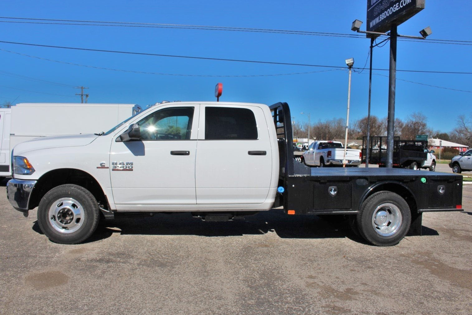 2018 Ram 3500 Crew Cab DRW 4x4,  CM Truck Beds Flatbed #TG401882 - photo 4