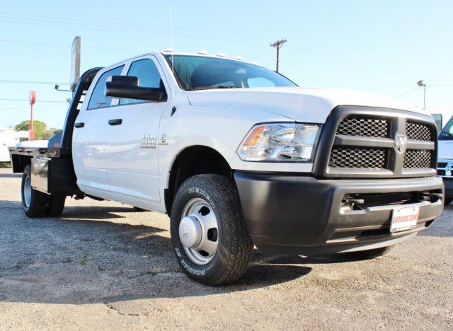 2017 Ram 3500 Crew Cab DRW 4x4, CM Truck Beds Flatbed #TG619973 - photo 4