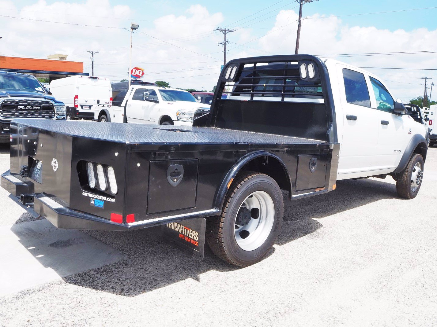 2019 Ram 5500 Crew Cab DRW 4x4, CM Truck Beds Flatbed #TG704945 - photo 1