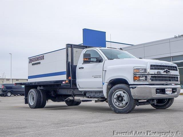 2020 Silverado 5500 Regular Cab DRW 4x2,  Monroe Truck Equipment Versa-Line Stake Body Stake Bed #49439 - photo 10