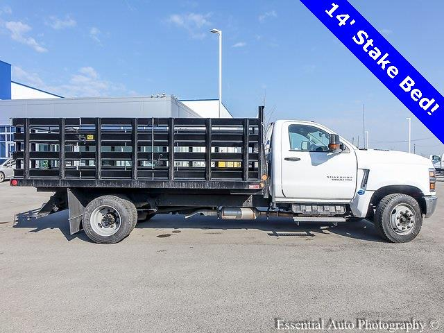 2020 Silverado 5500 Regular Cab DRW 4x2,  Monroe Truck Equipment Versa-Line Stake Body Stake Bed #49439 - photo 2