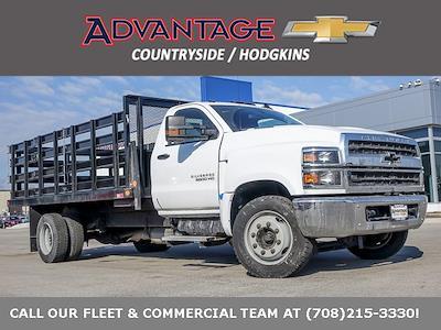 2020 Silverado 5500 Regular Cab DRW 4x2,  Monroe Truck Equipment Versa-Line Stake Body Stake Bed #49439 - photo 1