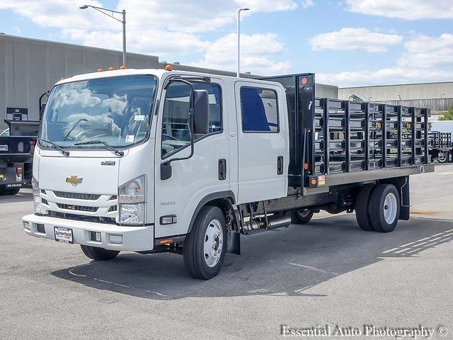 2020 LCF 4500 Crew Cab DRW 4x2,  Monroe Truck Equipment Versa-Line Stake Body Stake Bed #49790 - photo 6