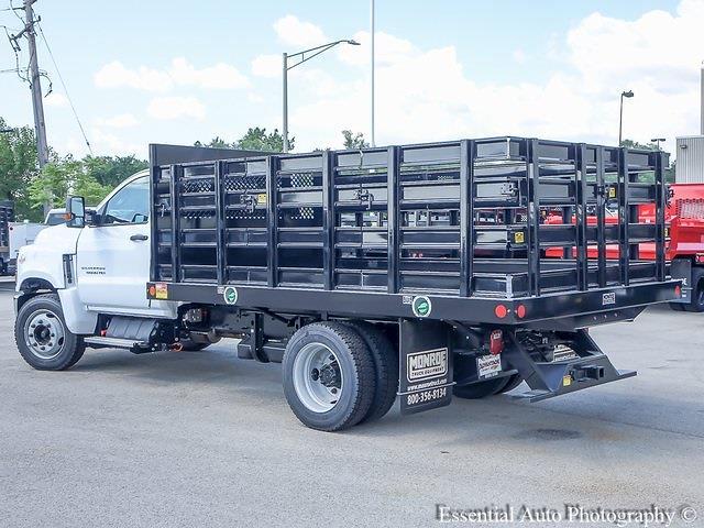 2021 Silverado 5500 Regular Cab DRW 4x2,  Monroe Truck Equipment Work-A-Hauler II Stake Bed #51127 - photo 4
