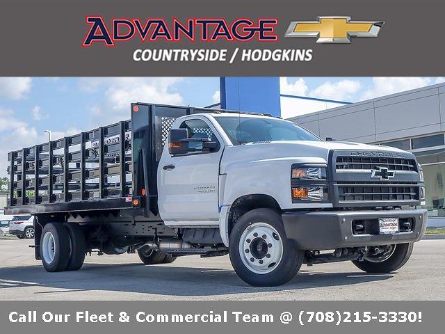 2021 Silverado 5500 Regular Cab DRW 4x2,  Monroe Truck Equipment Versa-Line Stake Body Stake Bed #51128 - photo 1