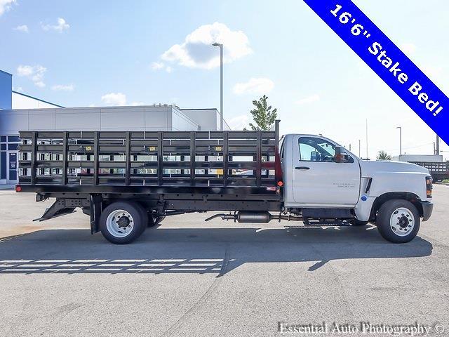 2021 Silverado 5500 Regular Cab DRW 4x2,  Monroe Truck Equipment Versa-Line Stake Body Stake Bed #51128 - photo 3