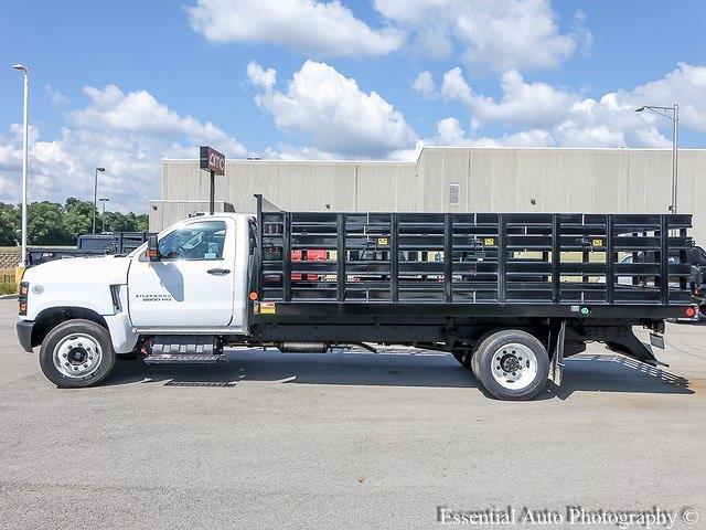 2021 Silverado 5500 Regular Cab DRW 4x2,  Monroe Truck Equipment Versa-Line Stake Body Stake Bed #51128 - photo 6