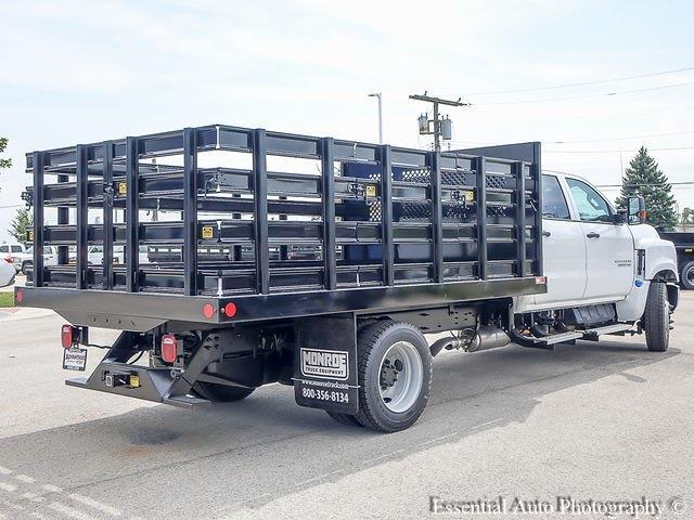 2021 Silverado 5500 Crew Cab DRW 4x2,  Monroe Truck Equipment Work-A-Hauler II Stake Bed #51155 - photo 3