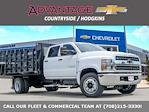 2021 Silverado 5500 Crew Cab DRW 4x2,  Monroe Truck Equipment Work-A-Hauler II Stake Bed #51155 - photo 1