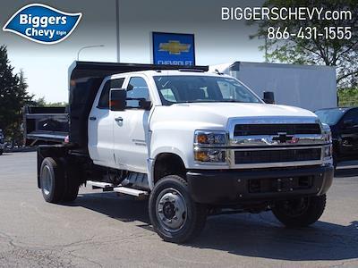 2021 Silverado Medium Duty Crew Cab DRW 4x4,  Monroe Truck Equipment MTE-Zee Dump Body #3210427 - photo 1