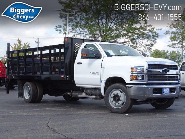 2021 Silverado Medium Duty Regular Cab DRW 4x2,  Monroe Truck Equipment Work-A-Hauler II Stake Bed #3210563 - photo 1