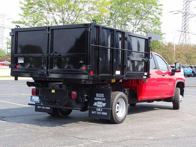 2021 Silverado 3500 Crew Cab 4x2,  Reading Landscaper SL Landscape Dump #3210572 - photo 2