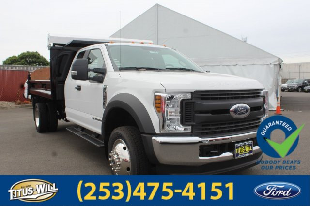 2018 F-550 Super Cab DRW 4x4,  Crysteel Dump Body #F80346 - photo 3