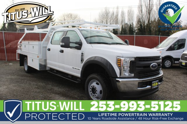 2019 F-450 Crew Cab DRW 4x4,  Scelzi Contractor Body #F90267 - photo 3