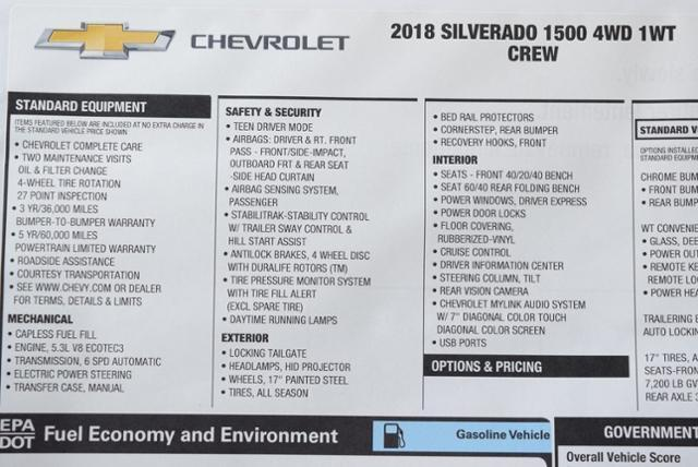 2018 Silverado 1500 Crew Cab 4x4,  Pickup #T8496 - photo 30