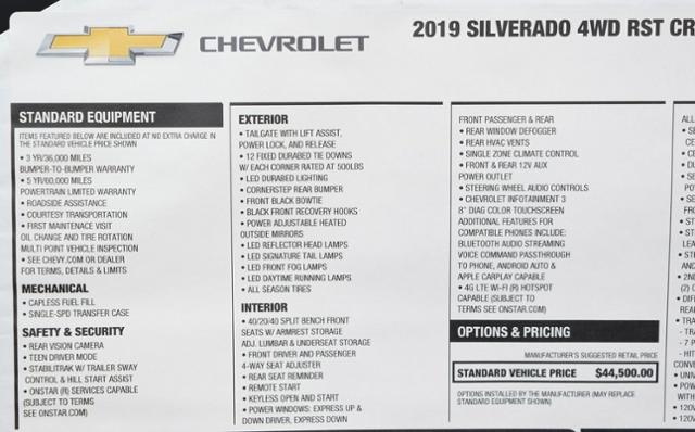 2019 Silverado 1500 Crew Cab 4x4,  Pickup #T9059 - photo 35