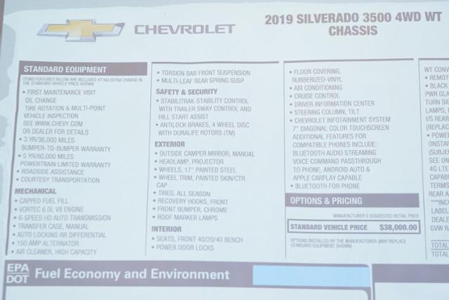 2019 Silverado 3500 Regular Cab DRW 4x4,  Cab Chassis #T9091 - photo 25