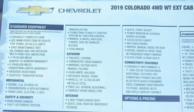 2019 Colorado Extended Cab 4x4,  Pickup #T9194 - photo 26