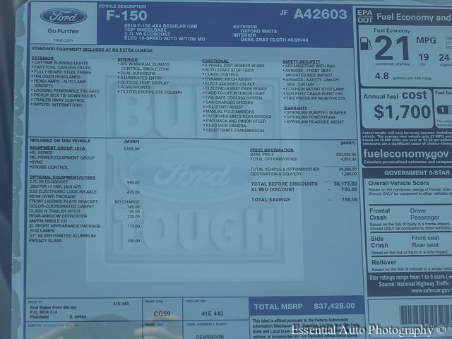 2018 F-150 Regular Cab 4x4 Pickup #T18027 - photo 11