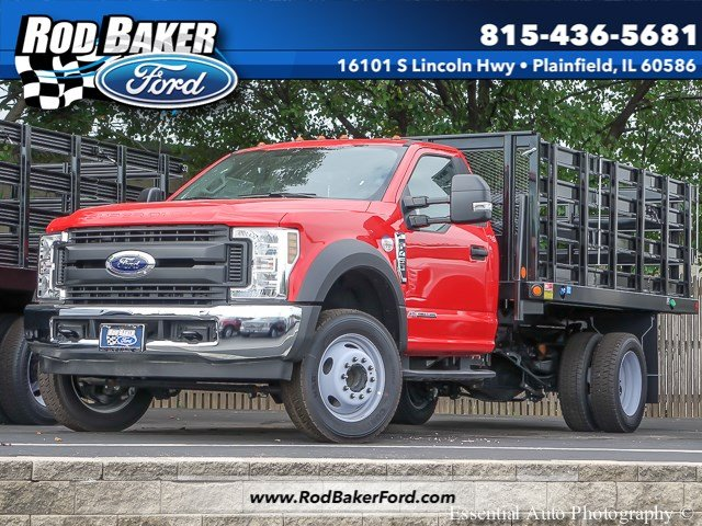 2018 F-450 Regular Cab DRW 4x2,  Monroe Versa-Line Stake Body Stake Bed #T18373 - photo 1