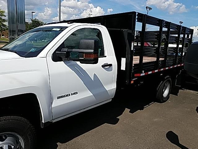 2018 Silverado 3500 Regular Cab DRW 4x4,  Stake Bed #T1714 - photo 10