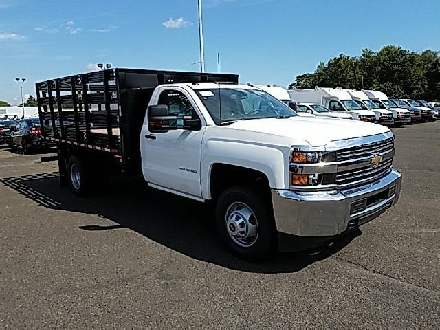 2018 Silverado 3500 Regular Cab DRW 4x4,  Stake Bed #T1714 - photo 4
