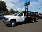 2018 Silverado 3500 Regular Cab DRW 4x4,  Stake Bed #T1714 - photo 1