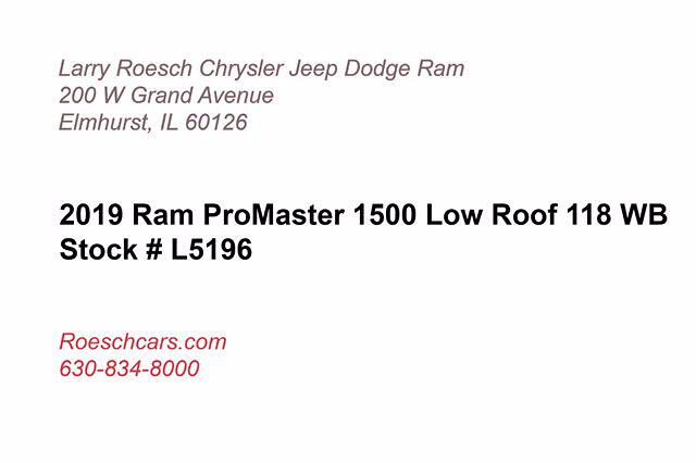 2019 ProMaster 1500 Standard Roof FWD,  Empty Cargo Van #16686 - photo 4
